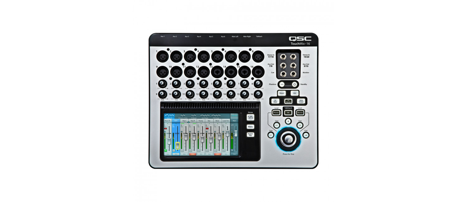 qsc touchmix 16 compact touch screen digital mixer available from at a great price. Black Bedroom Furniture Sets. Home Design Ideas