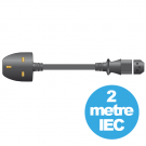 Mercury 10A UK to IEC Mains Power Leads 2m ( 114.007UK )