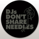 DMC Technics DJs Don't Share Needles Slipmats - Pair