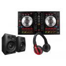 Pioneer DDJ-SB2 Bundle with DM40 Speakers and HDJ-500R Headphones