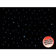 View and buy LEDJ 6 x 3m LED Starcloth System, Black Cloth, CW (STAR03) online