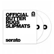 View and buy Serato Official Butter Rug Slipmats - White (Pair)  online