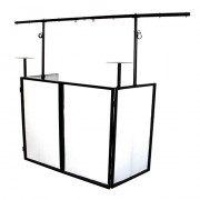 View and buy NovoPro SDX V2 DJ Booth with lighting gantry online