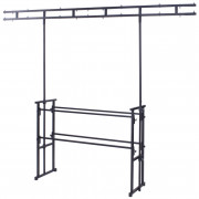 View and buy Equinox 4ft Pro Disco Stand and Twin Bar Overhead Kit (STAN12A) online